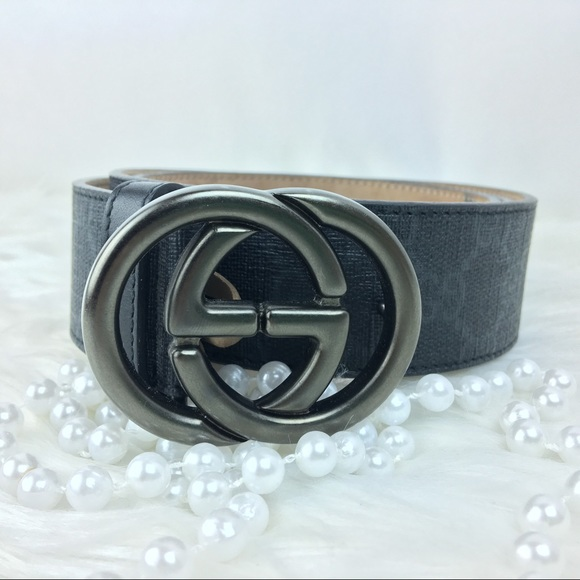 ce65701fe1cb Gucci Other - Gucci GG supreme Blacken Silver Buckle Belt